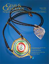 Spring 2016 Gems & Gemology Cover