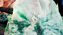Jadeite boulder from Itoigawa, Japan