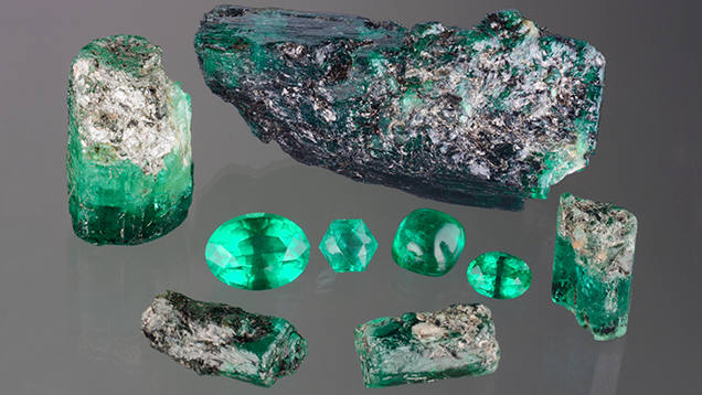 Suite of untreated Ethiopian emeralds