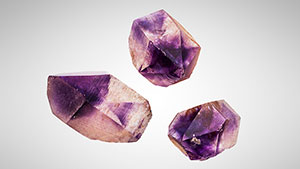 Amethyst crystals from Morocco