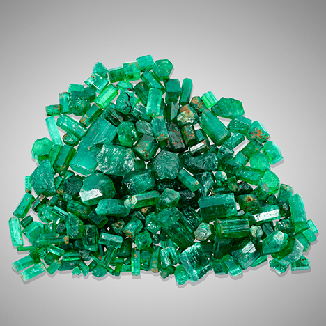 Rough emerald parcel from Afghanistan.