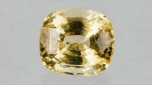 Sustainably mined yellow sapphire with a transparent chain of custody.