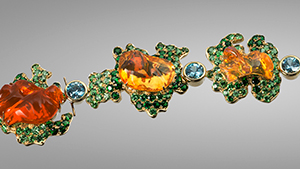 """Queen Thai"" bracelet with fire opals."