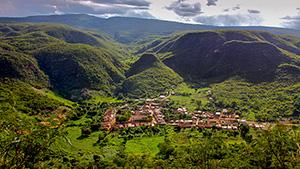 Remedios, home of rutilated quartz mining community.