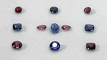 Spinel suites in a range of hues