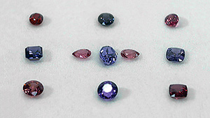 Spinel suites in a range of hues.