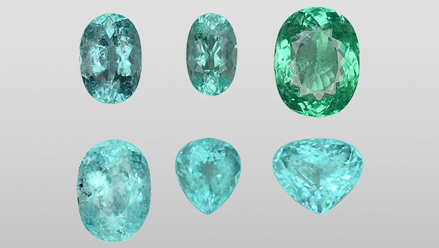 Representative copper-bearing liddicoatite tourmaline from the study.