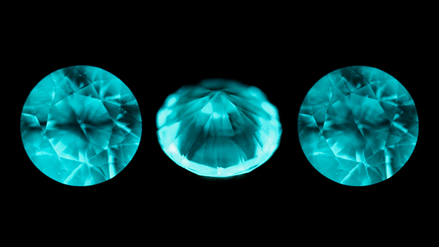 DiamondView images show growth patterns of HPHT synthetics.