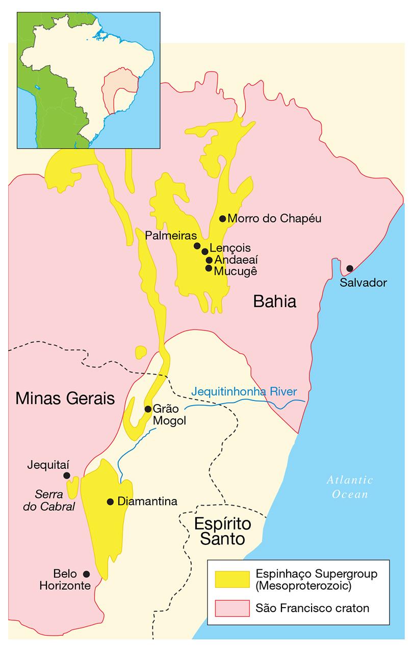Map of the São Francisco craton