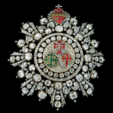 Badge from Portuguese crown jewels with Brazilian diamonds