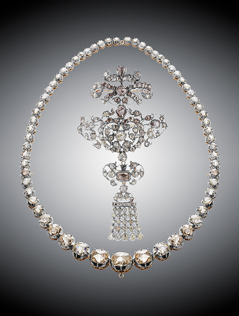 Brazilian diamond necklace from the Danish crown jewels