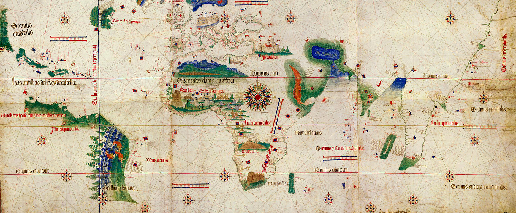 Map of the 1494 Treaty of Tordesilhas