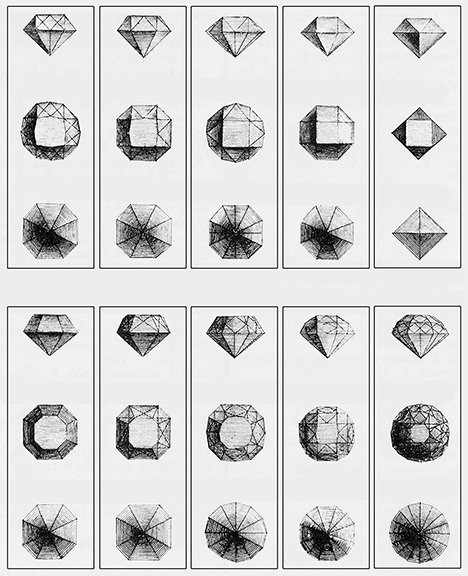 Diamond faceting arrangements from the mid-1700s