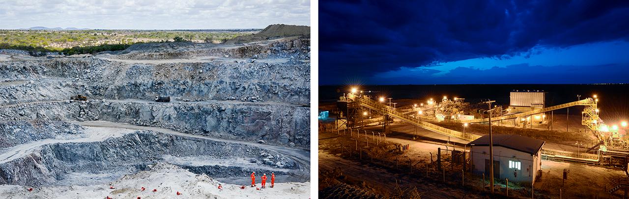 Lipari diamond mine in Bahia, Brazil