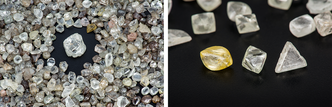 Brazilian diamond crystals from primary deposits
