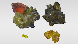 Samples of by-product synthetic zincite