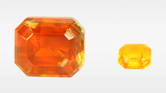 Faceted by-product synthetic zincite