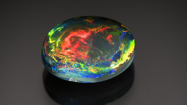 Australian black opal sourced by Emil Weis from Lightning Ridge