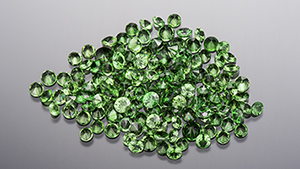 Tsavorite garnet and red spinel from Miriam Kamau's mining operation in Kenya