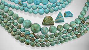 Recent production of turquoise from Polk County, Arkansas