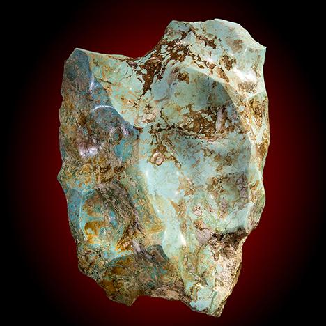 245 lb. turquoise boulder from Polk County, Arkansas