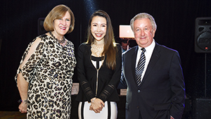 GIA graduate Catherine Zheng receives the first annual Gianmaria Buccellati Foundation Award for Excellence in Jewelry Design.
