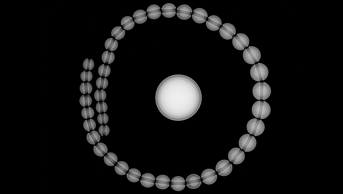 RTX image of round shell bead nuclei.