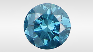 This fancy deep green-blue diamond was treated in a multi-step process.