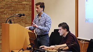 Pierre Cartigny delivers a presentation at the IDS.