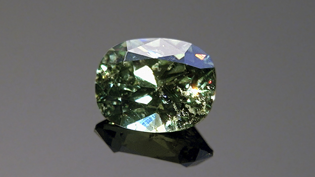Light color and high dispersion of Namibian demantoid
