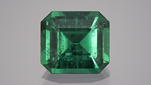 13 ct emerald from Belmont mine's underground tunnel