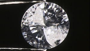 Diamond before and after filling large fractures.