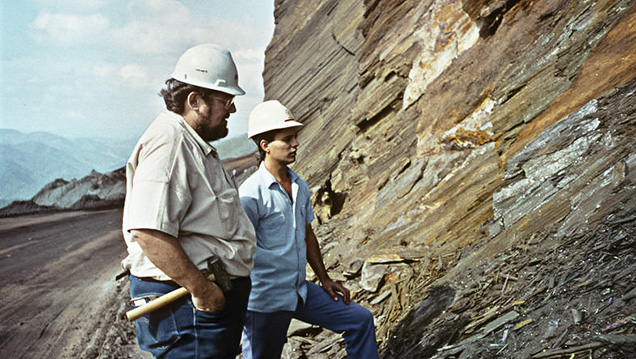 Rock Currier and colleague at the Andrade mine.