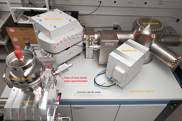 Mass spectrometer used at the Carnegie Institution for Science.