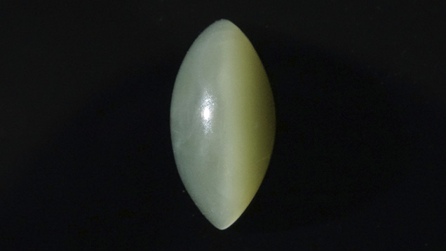 1.71 ct cat's-eye nephrite marquise