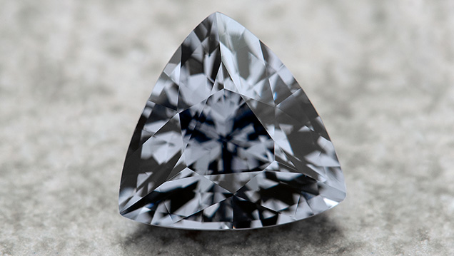 Trillion-cut gray spinel from Myanmar.