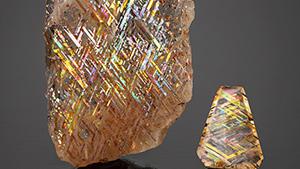 """Rainbow lattice"" specimens from Australia."