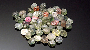 Rough Montana sapphires.