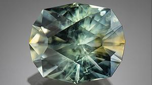 Bicolor sapphire in Hapeman's Helena cut.