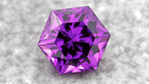 Purple garnet from Mozambique.