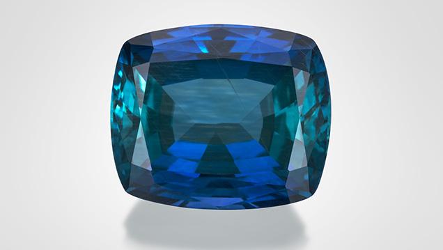 Unheated Tanzanian sapphire.