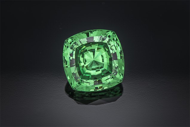 Largest Square Cushion-Cut Tsavorite