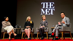 """Ethics of Jewelry"" panelists at the Met."
