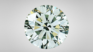 Faint Green HPHT synthetic diamond