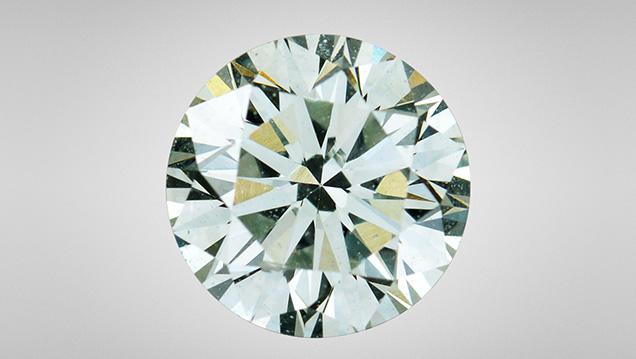 Faint Green HPHT synthetic diamond