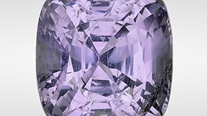Sapphire shows a strong color change from grayish violet to purple-pink.