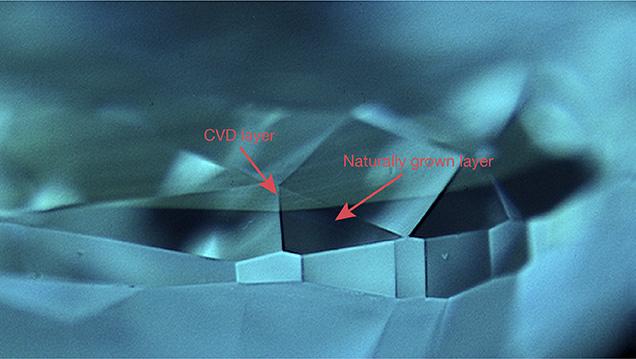 DiamondView image showing separation plane