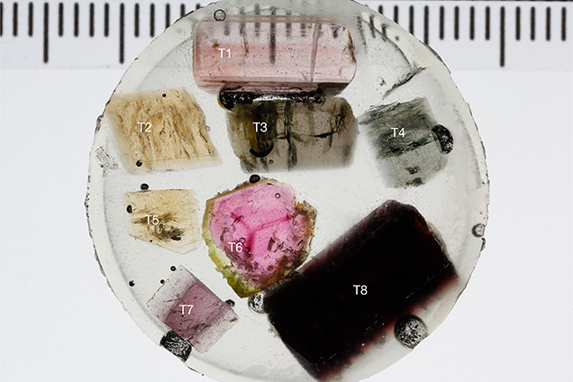 Tourmaline samples used for this study.