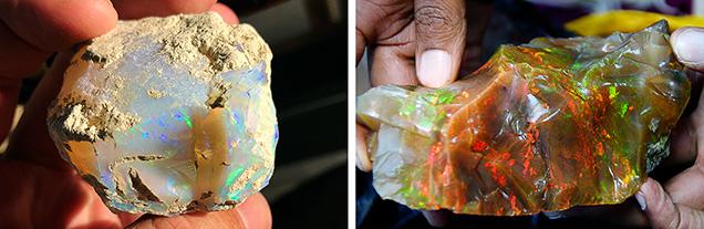 Large rough Ethiopian opal