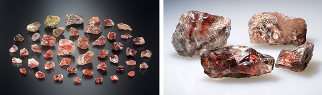 Rough Ethiopian sunstones in a varies of colors and clarities.